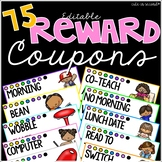 Student Reward Coupons - Editable