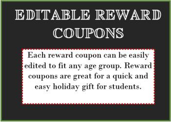 Editable Reward Coupons