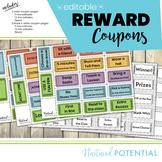 EDITABLE Reward Coupons - Modern, Fun Ticket-look Design -
