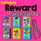 Editable Behavior Punch Cards (A Reward System)