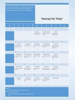 Editable Reward or Activity Calendar