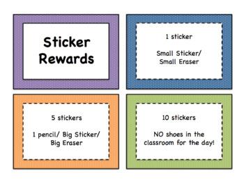 Editable Rewards Clip Chart