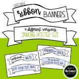 Editable Ribbon Banners