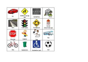Editable Road Safety Bingo Cards