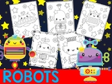 Editable Robots Coloring Pages - The Crayon Crowd