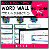 Editable Rock and Roll Theme Word Wall