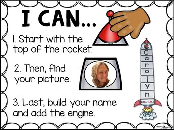 Editable Rocket Building Names with faces! Name Building Rockets PLUS numbers!