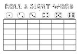 Editable Roll A Sight Word