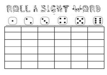 Editable Roll A Sight Word