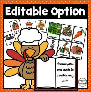 Editable Roll, Say, Keep: Thanksgiving Game, ALL Dolch Word Lists