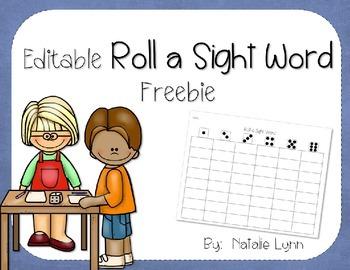 Editable Roll a Sight Word Freebie