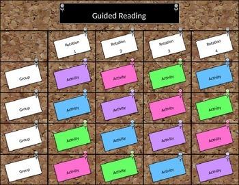 Editable Group Rotation Chart