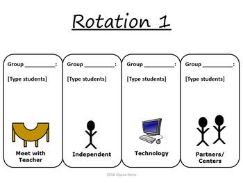 Editable Rotation Charts - Aqua