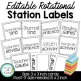 Editable Rotational Station Labels