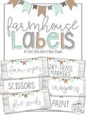 Editable Rectangular Rustic Farmhouse Classroom Labels