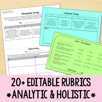 Editable Rubric Bundle