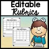 Editable Rubric Templates {3, 4, 5, or 6 Editable Goals}