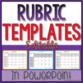 Editable Rubrics