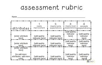 Editable Rubrics - primary, independent reading and intermediate