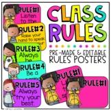 Class Rules | Editable Classroom Rules