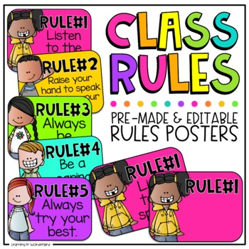 Class Rules | Editable Classroom Rules | Classroom Management