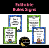 Editable Rules Signs