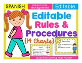 SPANISH Editable Rules and Procedures- 14 Charts