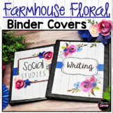 Editable Farmhouse Classroom Decor Binder Covers and Spines