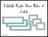 Editable Rustic Name Tags / Labels
