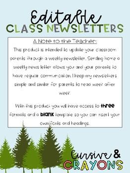 Editable Rustic Newsletter