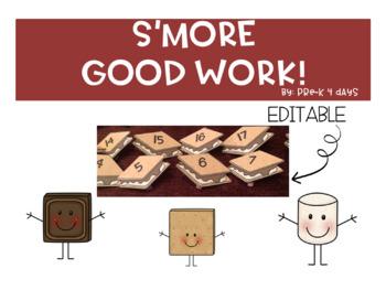 Editable S'MORE Good Work Bulletin Board