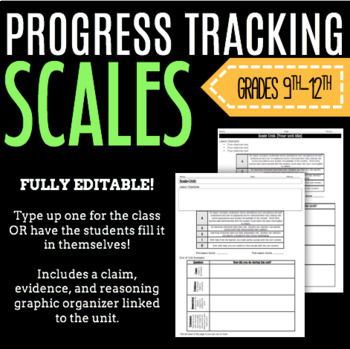 Editable SCALE Template for Progress Tracking