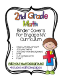Editable SECOND Grade Math Engage New York Binder Covers -