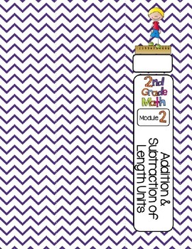 Editable SECOND Grade Math Engage New York Binder Covers - Purple Chevron