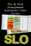 SLO Editable Pre & Post-Assessments Automatic Data Forms