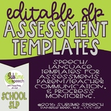 Editable SLP Assessment Templates