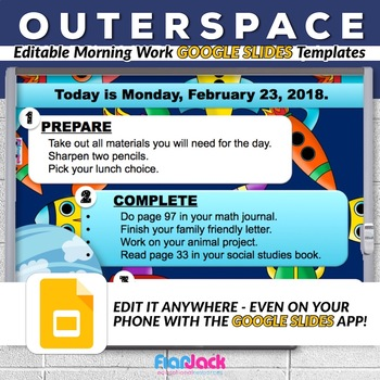 Editable SPACE GOOGLE SLIDES Templates