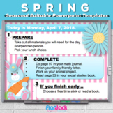 Editable SPRING EASTER Themed Morning Work PowerPoint Templates