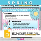 Editable SPRING Morning Work GOOGLE SLIDES Templates