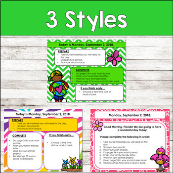 Editable SPRING Themed Morning Work PowerPoint Templates