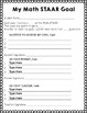 Editable STAAR Goal Sheets for any grade (Math, Reading, and Science)