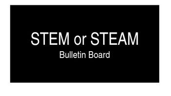 Editable STEM or STEAM Bulletin Board