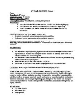 Editable SUCCESS Lesson Plans