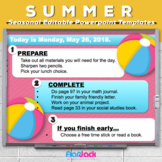 Editable SUMMER Themed Morning Work PowerPoint Templates
