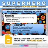 Editable SUPERHERO GOOGLE SLIDES Templates