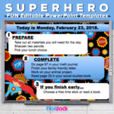 Editable SUPERHERO PowerPoint Templates