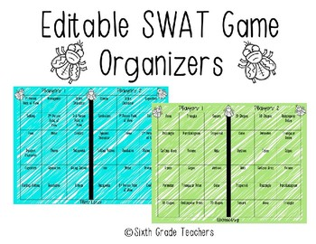 Editable SWAT Game Organizers