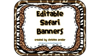 Editable Safari-Themed Banners