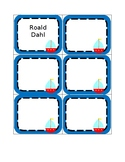 Editable Sailing Classroom Library Labels