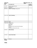 Editable Sample Lesson Plan Template